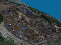 Quarry viewed in 3D